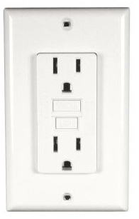 Permanent ground fault circuit interrupter gfci outlets for Bathroom 15 or 20 amp